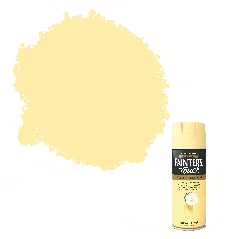 Rust-oleum Painter's Touch Strawflower Satin Effect Satin Decorative Spray Paint 400 Ml