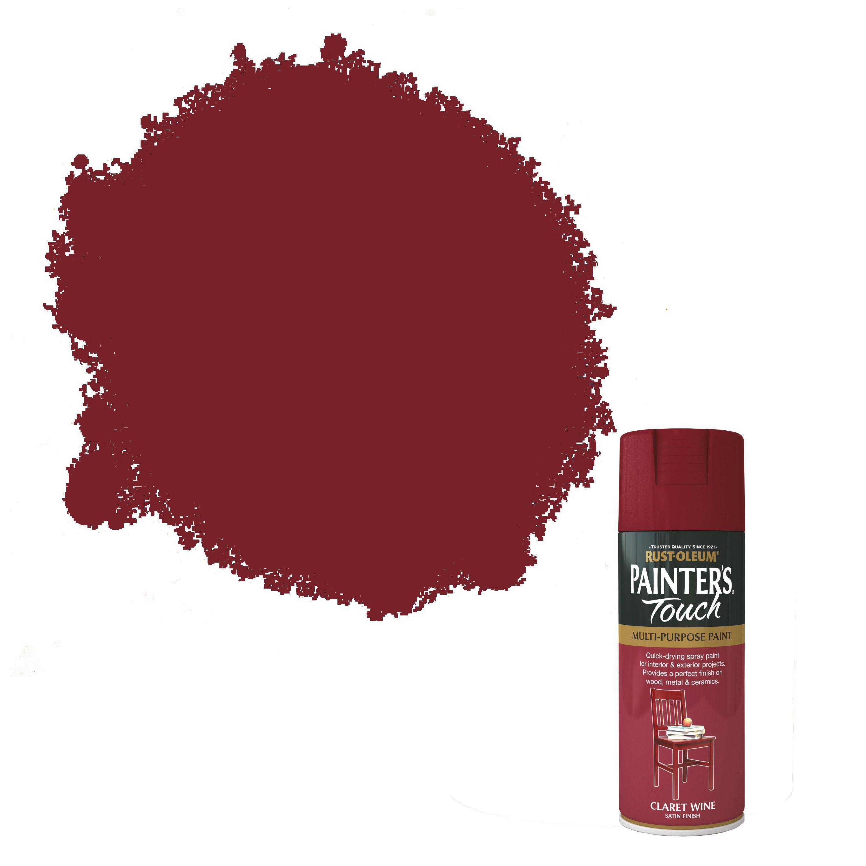 Rust-oleum Painter's Touch Claret Wine Satin Effect Satin Decorative Spray Paint 400 Ml