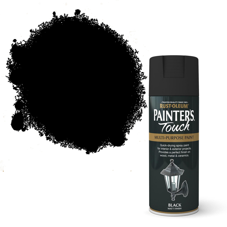 Rust-oleum Painter's Touch Black Matt Matt Decorative Spray Paint 400 Ml