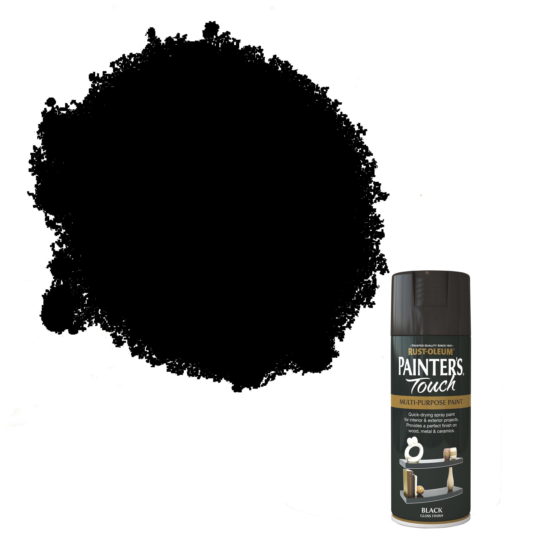 Rust-oleum Painter's Touch Black Gloss Gloss Decorative Spray Paint 400 Ml