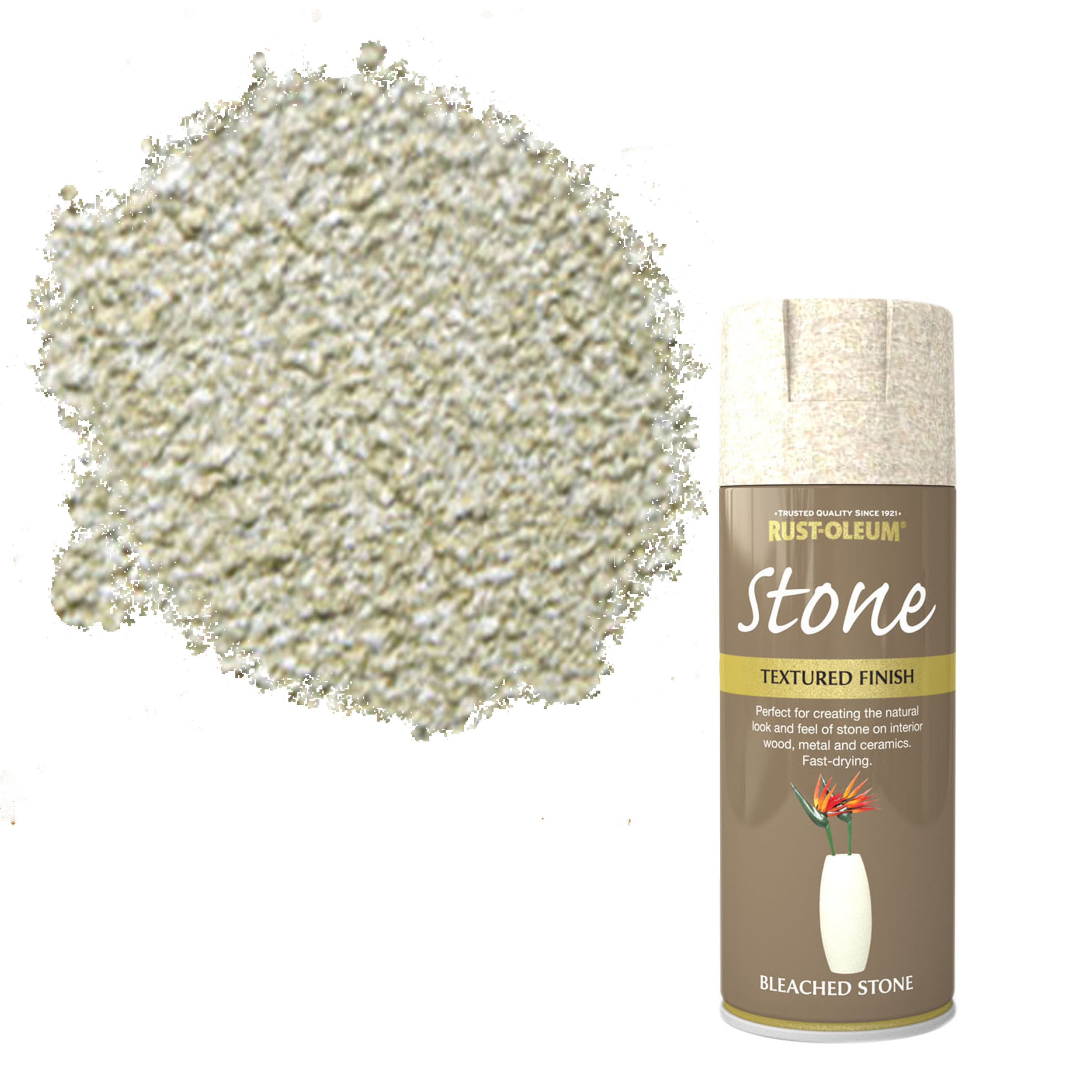 Rust-oleum Stone Bleached Stone Stone Effect Textured Spray Paint 400 Ml