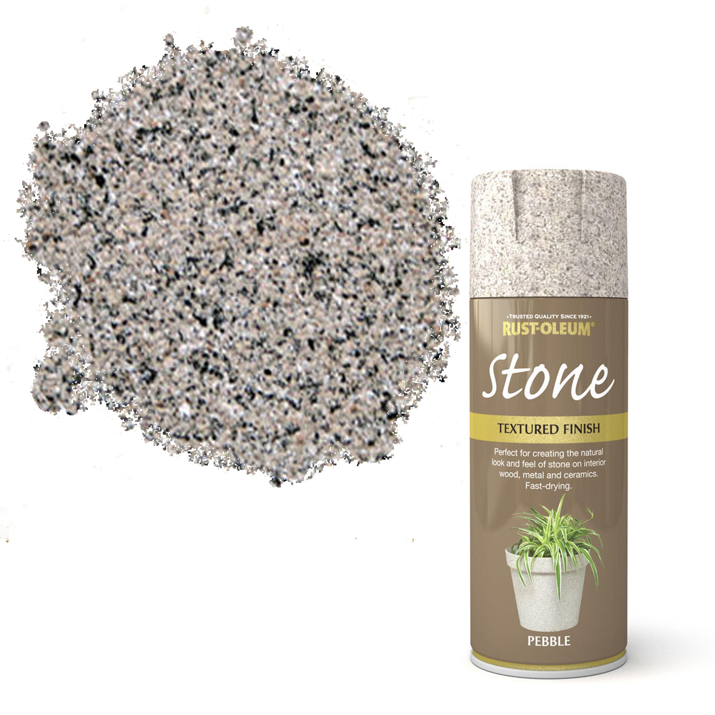 Rust-oleum Stone Pebble Stone Effect Textured Spray Paint 400 Ml