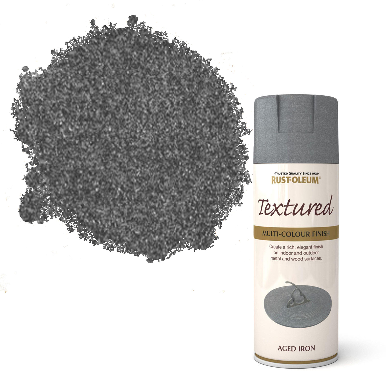 Rust Oleum Stone Aged Iron Spray Paint 400 Ml Departments Diy At B Q