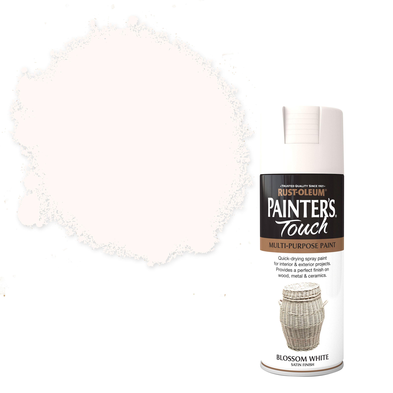 Rust-oleum Painter's Touch Blossom White Satin Effect Satin Decorative Spray Paint 400 Ml
