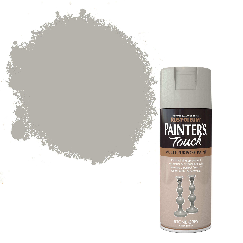Rust-oleum Painter's Touch Stone Grey Satin Effect Satin Decorative Spray Paint 400 Ml