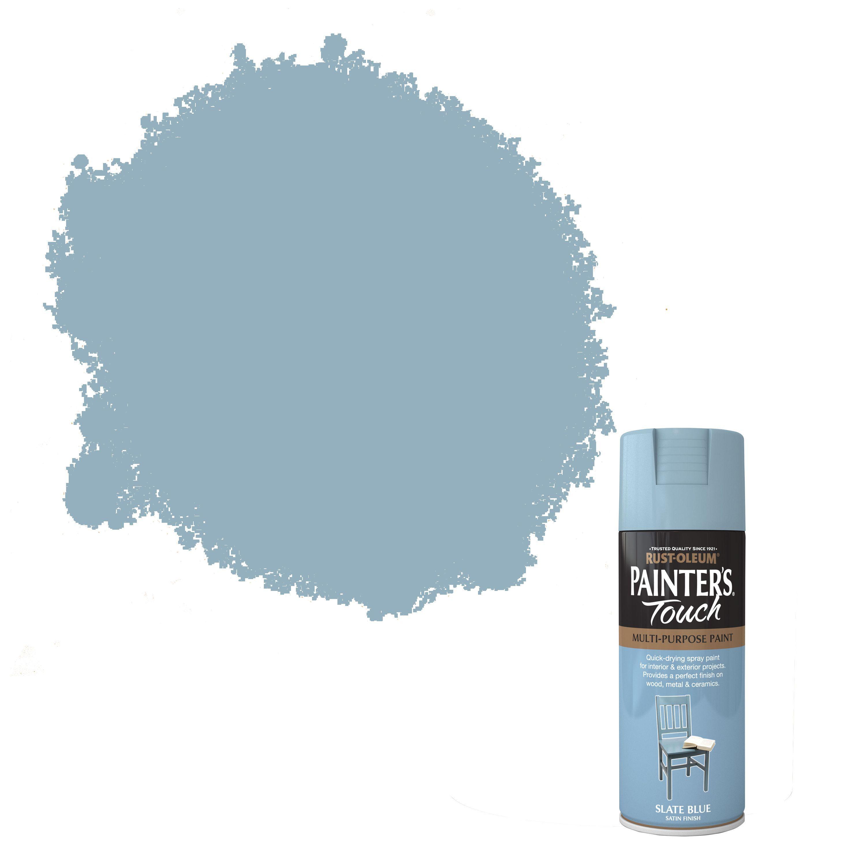 Rust-oleum Painter's Touch Slate Blue Satin Effect Satin Decorative Spray Paint 400 Ml