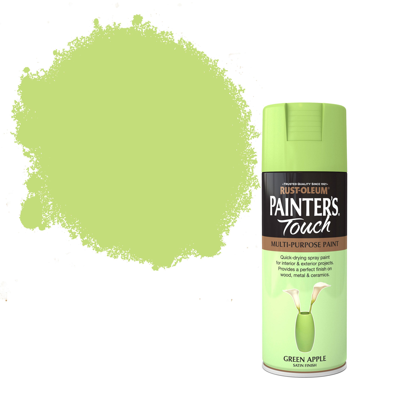 Rust-oleum Painter's Touch Green Apple Satin Effect Satin Decorative Spray Paint 400 Ml