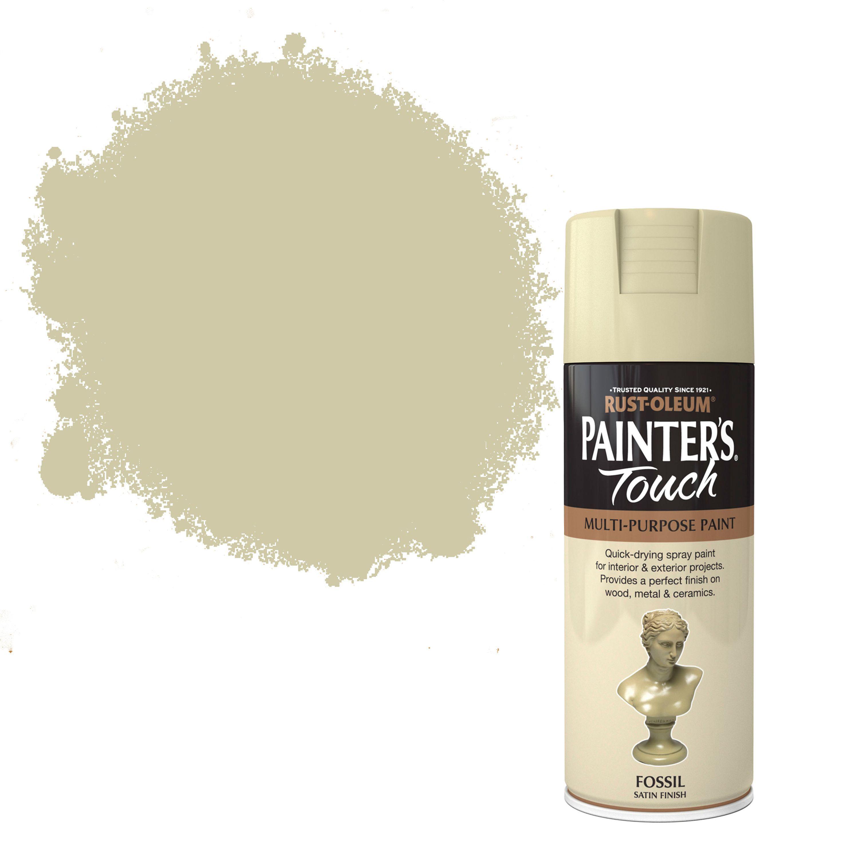 Rust-oleum Painter's Touch Fossil Satin Effect Satin Decorative Spray Paint 400 Ml