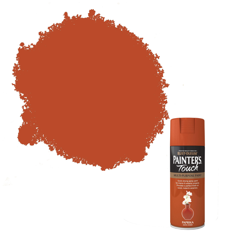 Rust-oleum Painter's Touch Paprika Satin Effect Satin Decorative Spray Paint 400 Ml