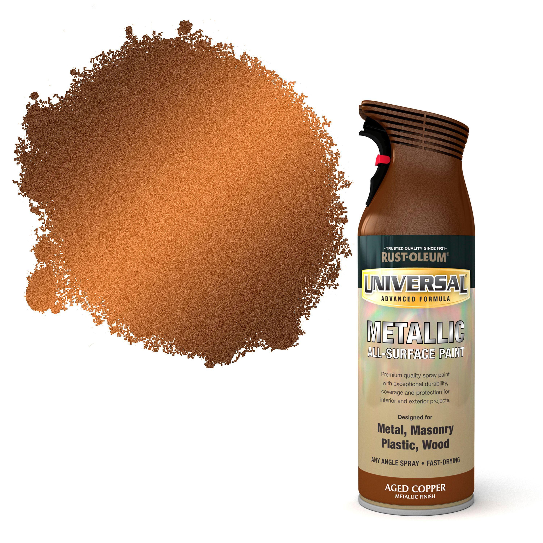 Rust-oleum Universal Aged Copper Metallic All-surface Spray Paint 400 Ml