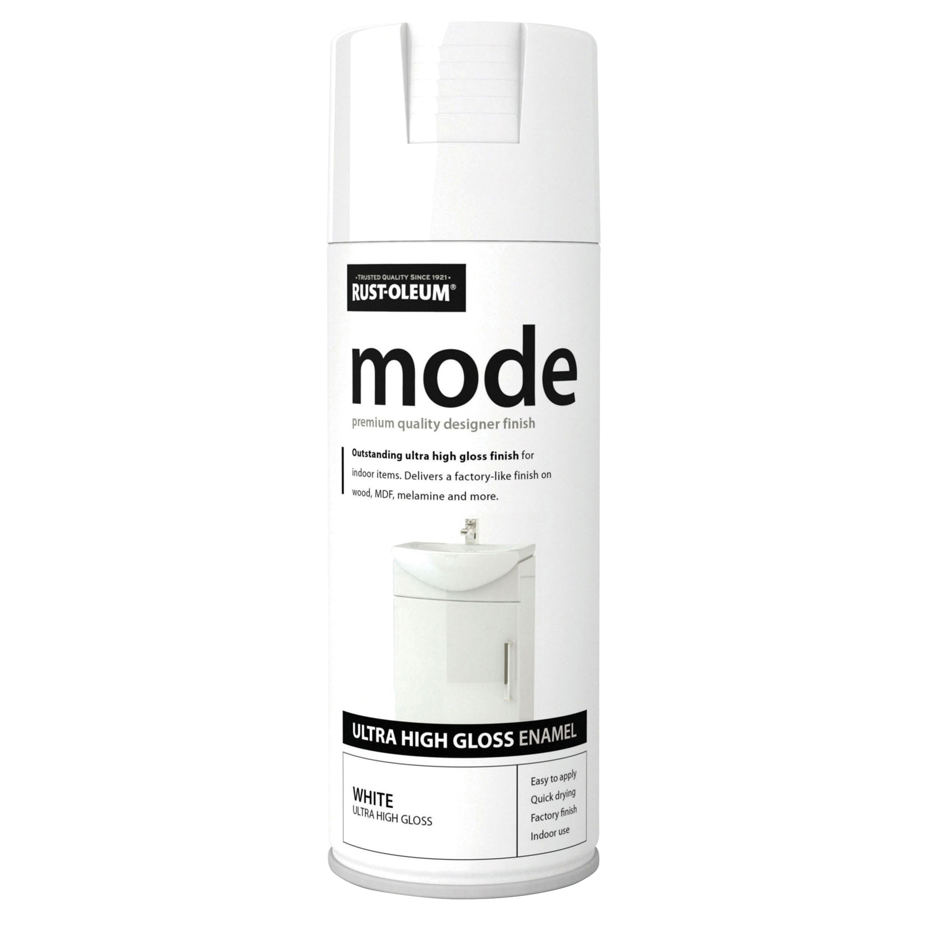 Rust-oleum Mode White Gloss Premium Quality Spray Paint 400 Ml