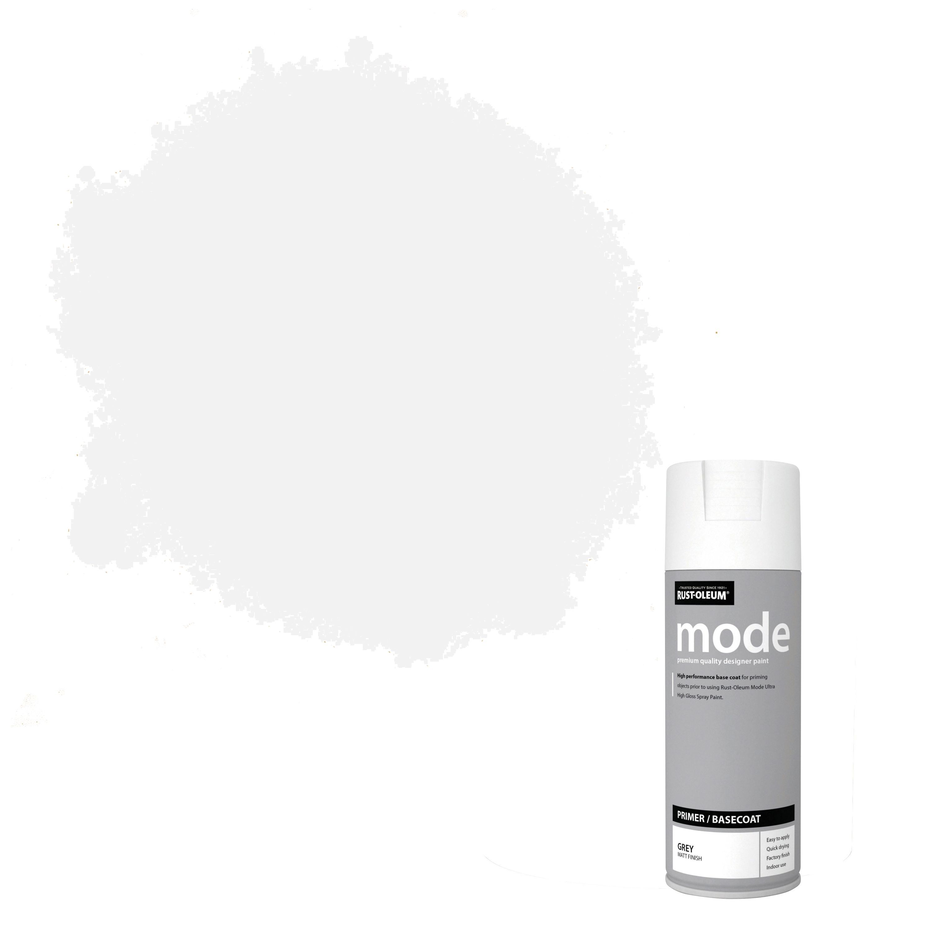 Rust-oleum Mode Grey Matt Surface Primer Spray Paint 400 Ml