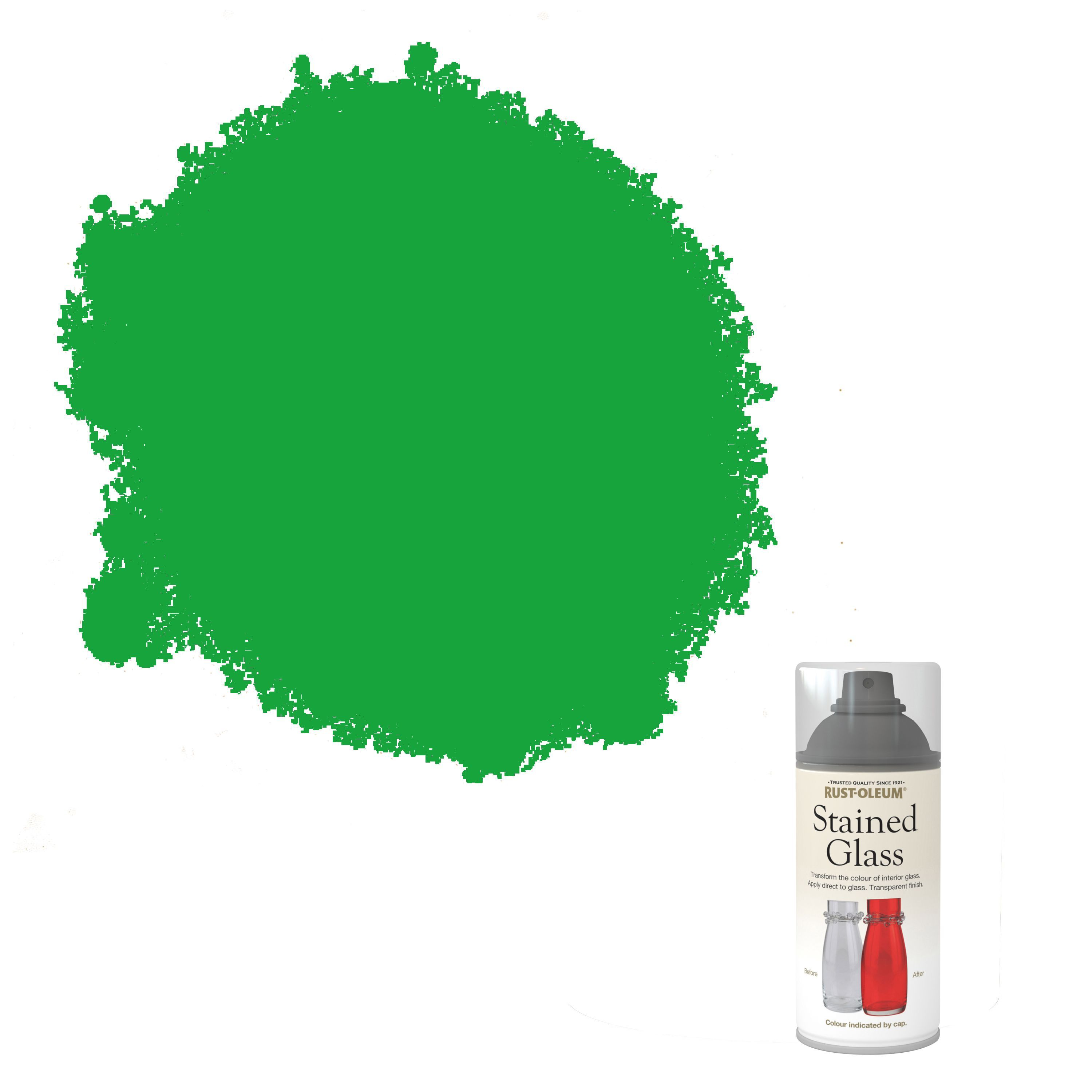 Rust-oleum Stained Glass Green Satin Spray Paint 150 Ml