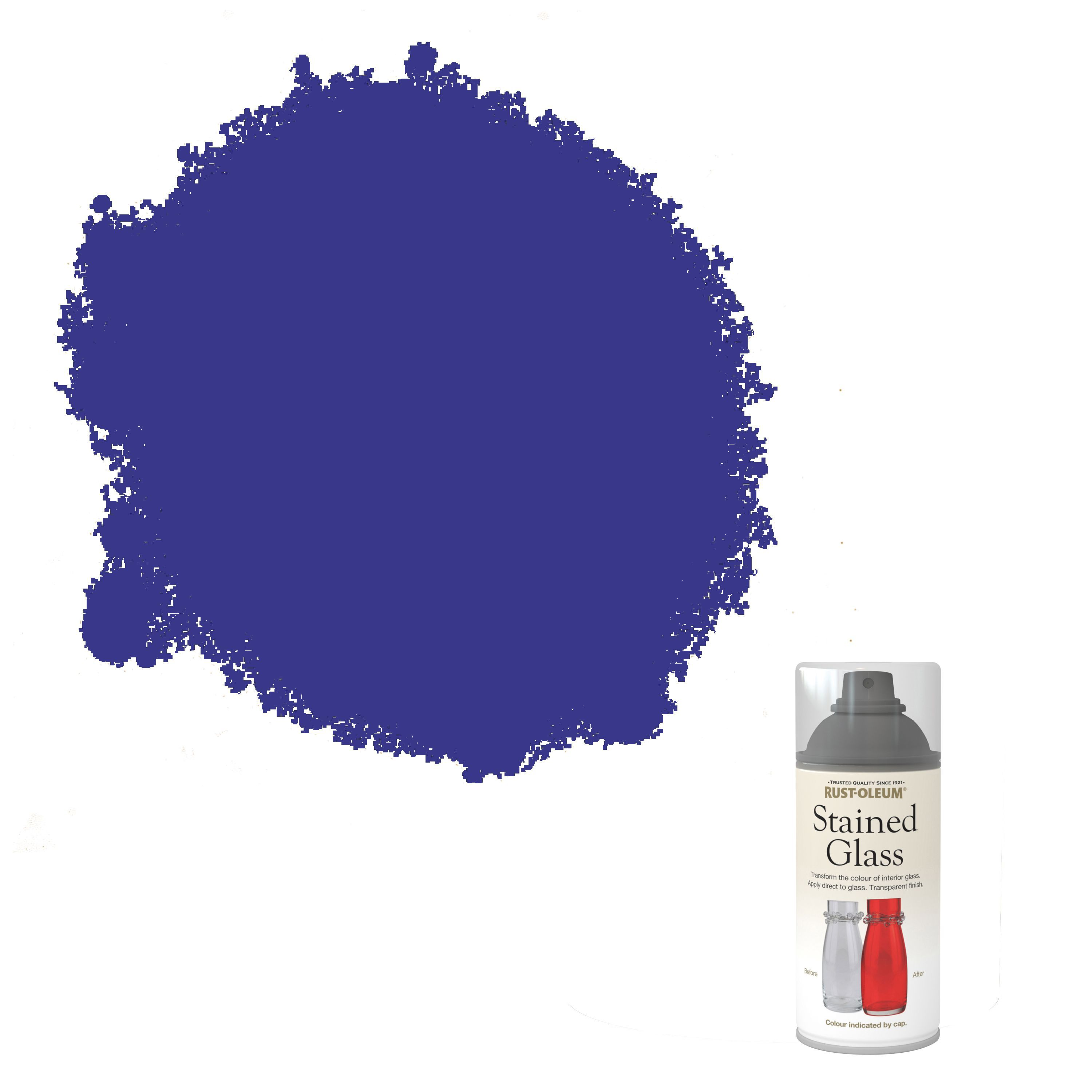 Rust-oleum Stained Glass Blue Satin Spray Paint 150 Ml