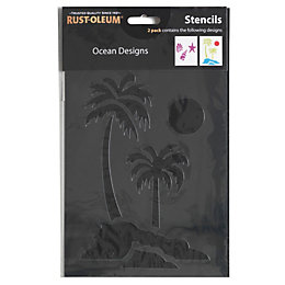 Rust-Oleum Ocean Stencil Pack of 2