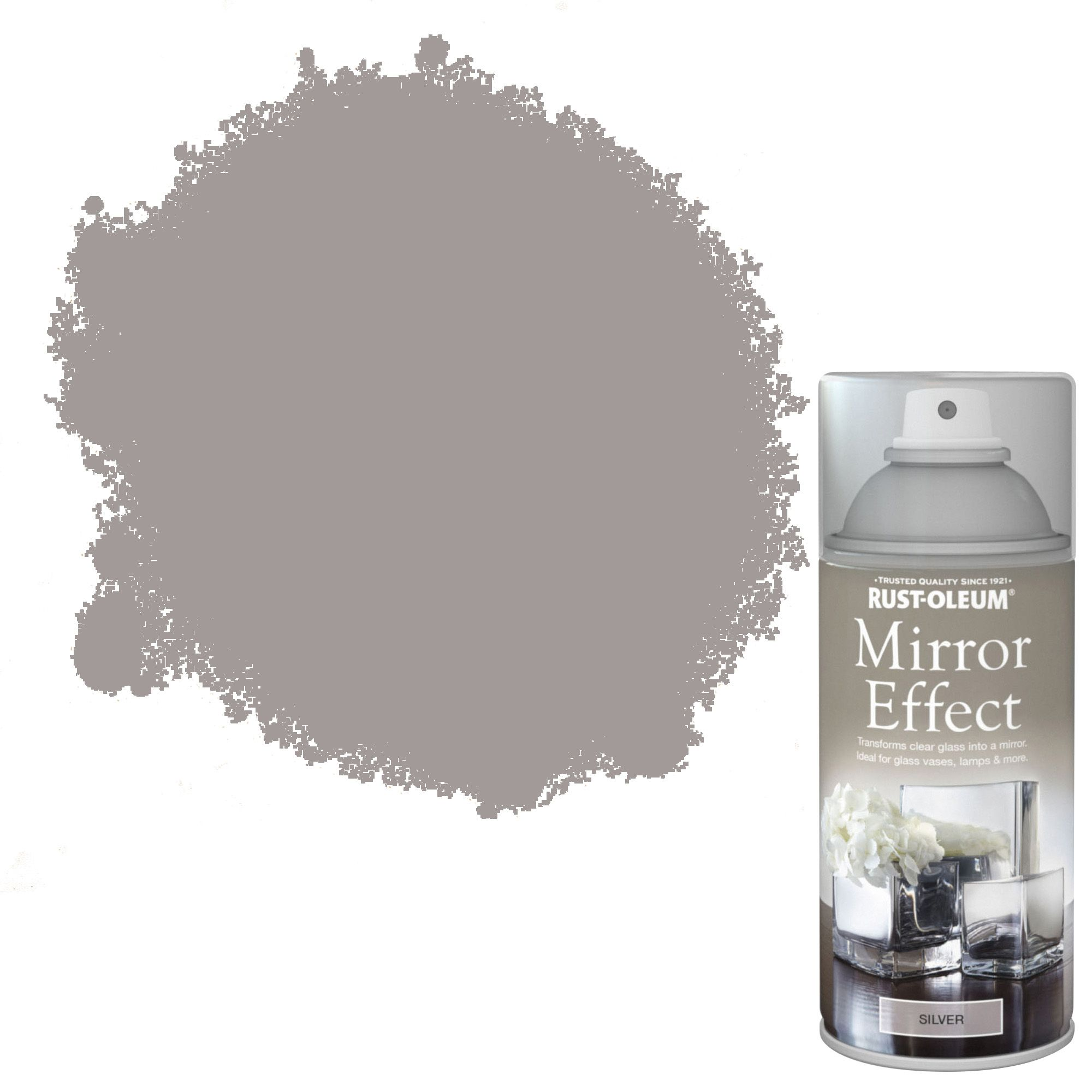 Rust oleum silver mirror spray paint 150ml departments for Mirror spray paint
