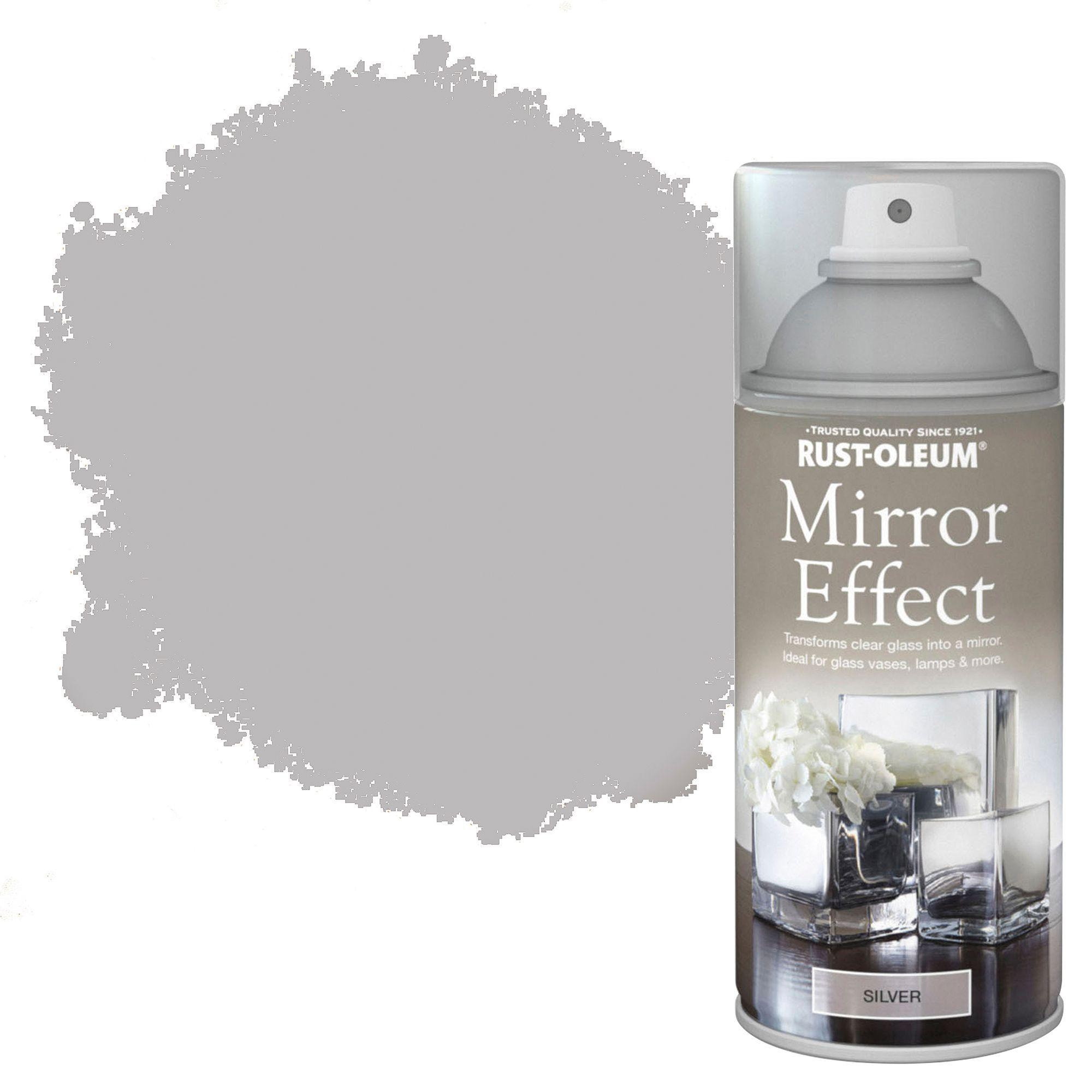 Rust-oleum Silver Metallic Effect Mirror Spray Paint 150 Ml