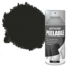 Rust-Oleum Black Matt Peelable Spray Paint 150ml