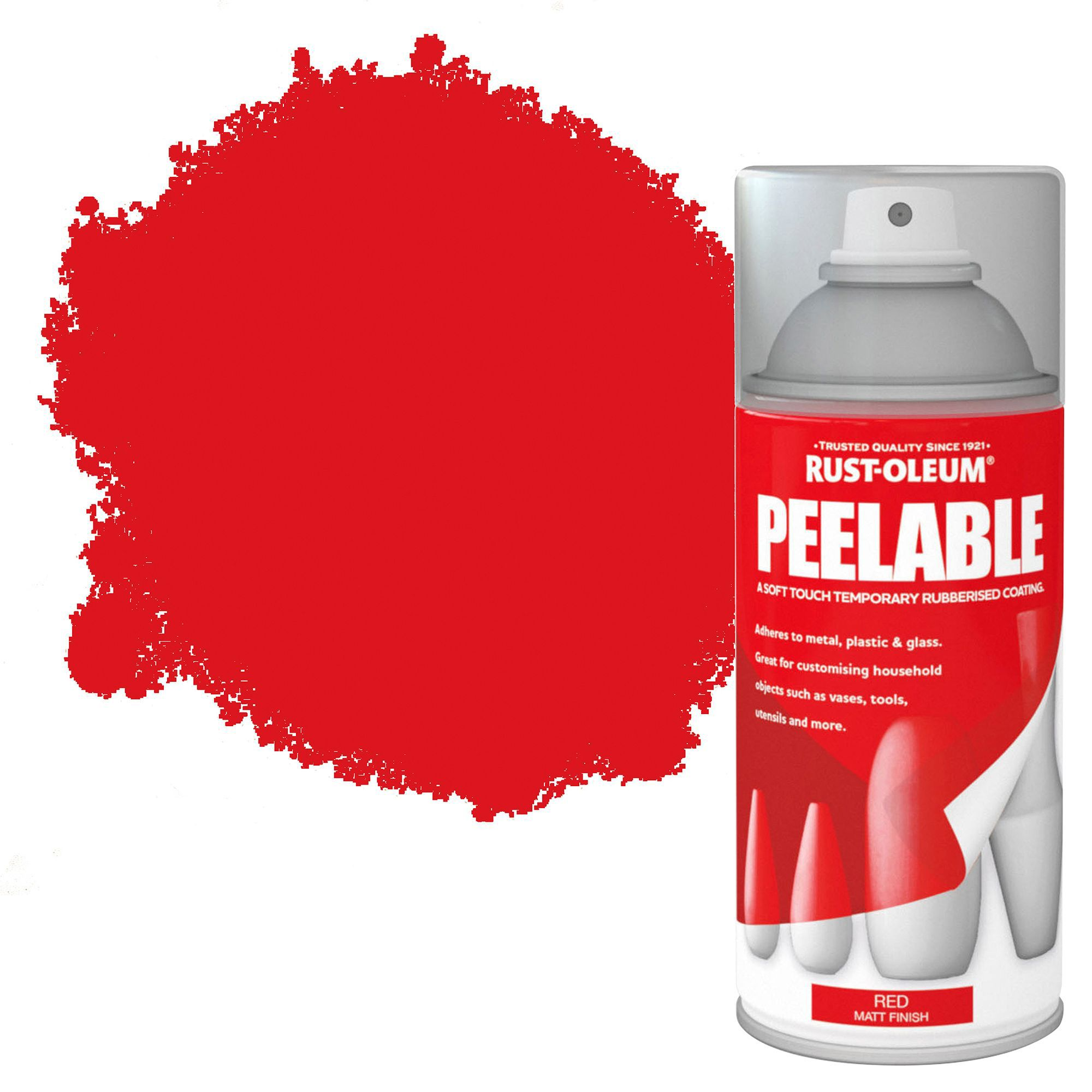 Rust-oleum Red Matt Peelable Spray Paint 150 Ml