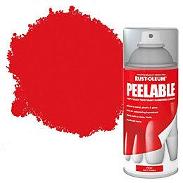 Rust-Oleum Red Matt Peelable Spray Paint 150ml