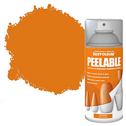 Rust-Oleum Orange Matt Peelable Spray Paint 150 ml