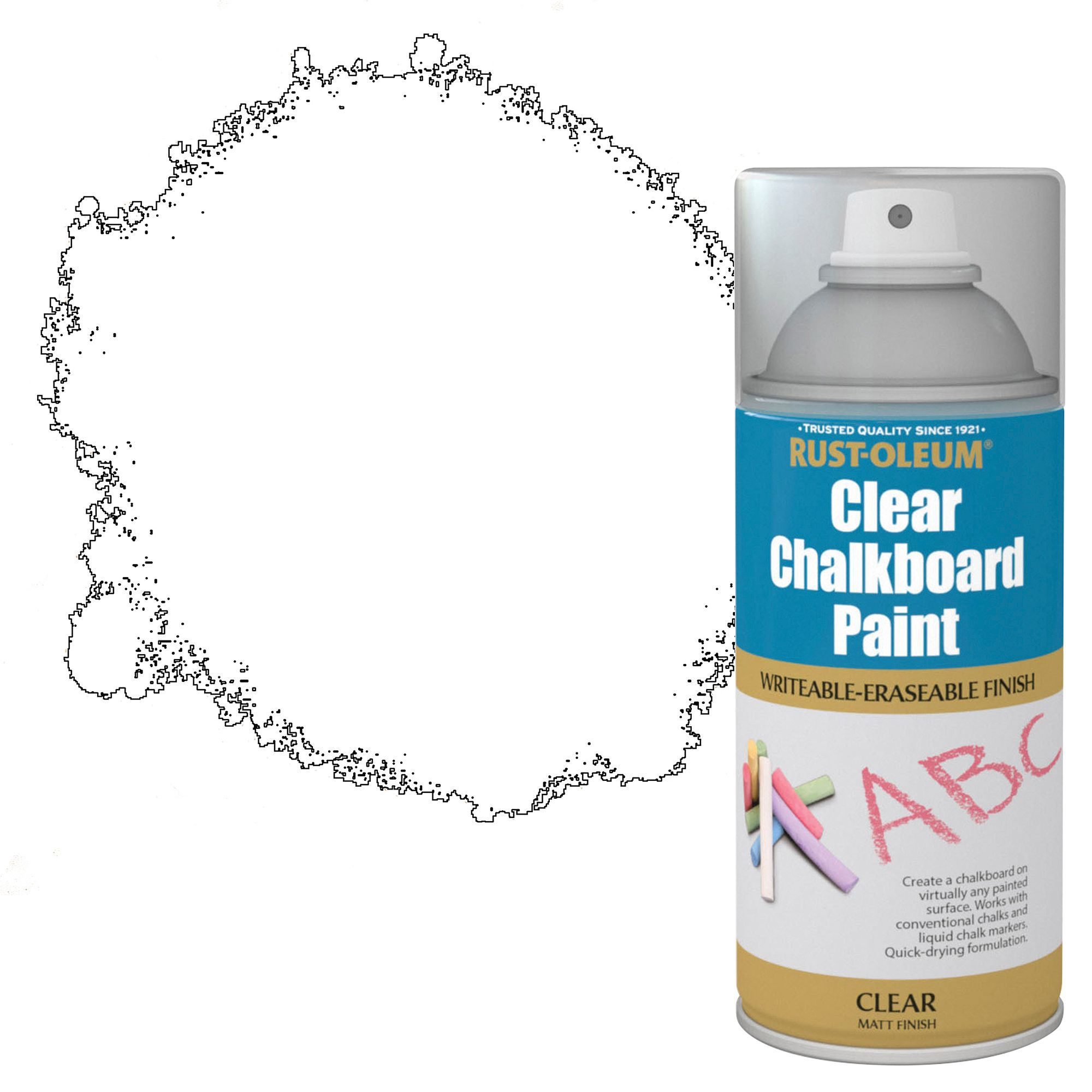 Rust-oleum Chalkboard Clear Matt Matt Chalkboard Spray Paint 150 Ml
