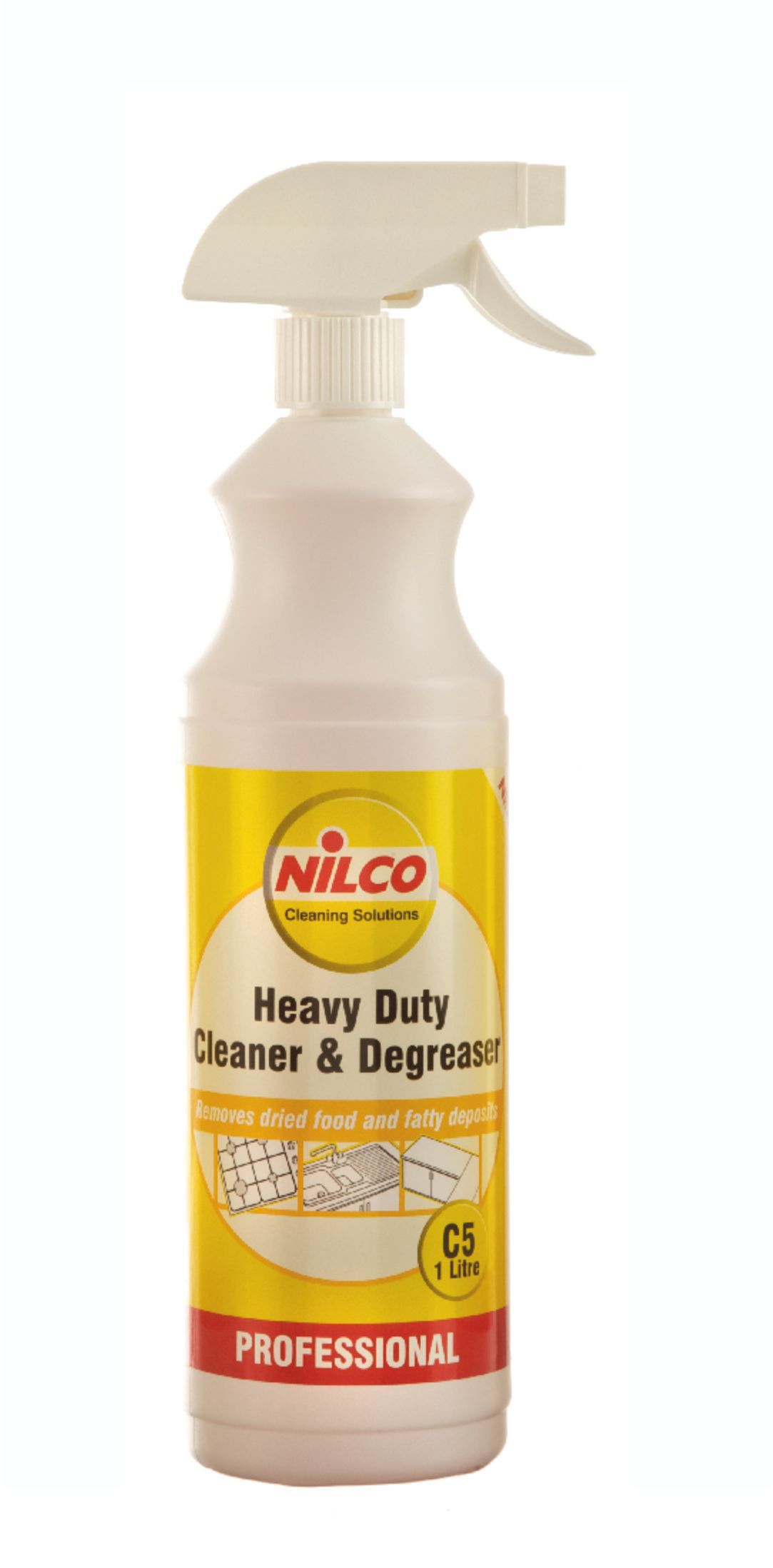 Nilco professional kitchen cleaner degreaser spray 1000 - Industrial strength bathroom cleaner ...