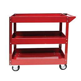 Hilka Steel 3 Drawer Tool Cart (H)760mm (W)430mm