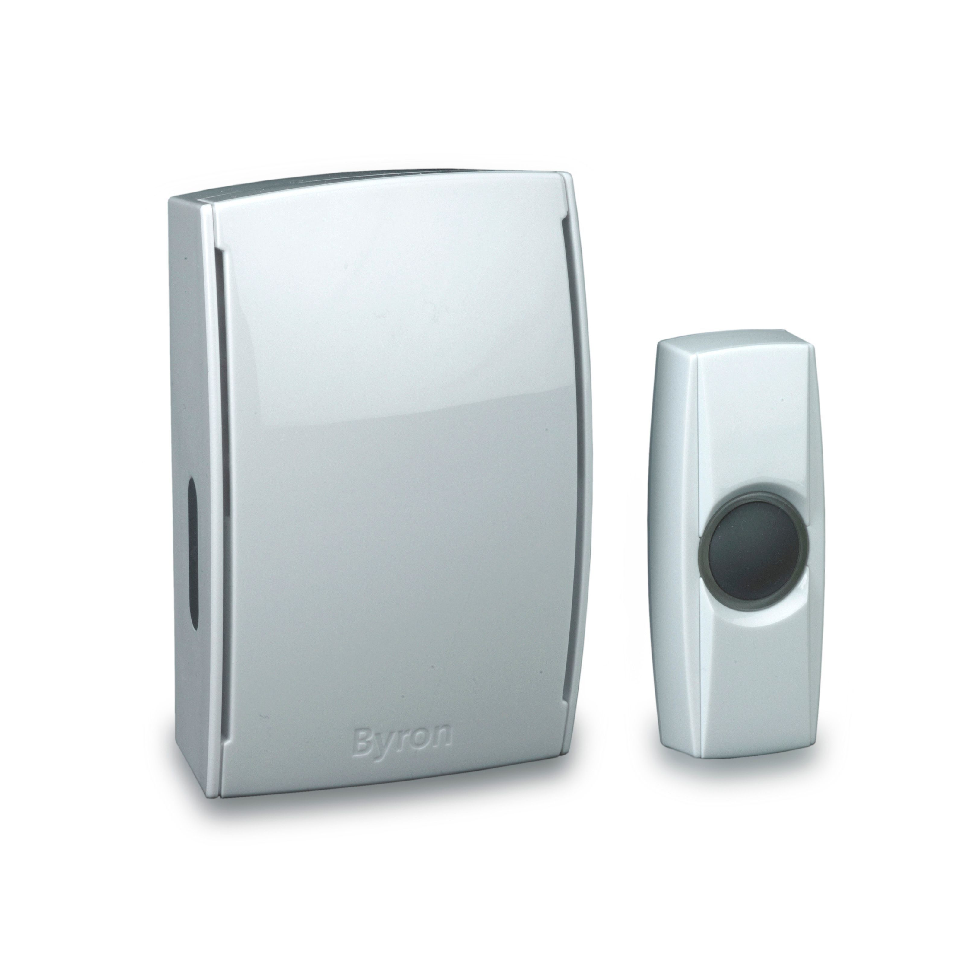 Byron Wireless White Portable Door Chime Departments
