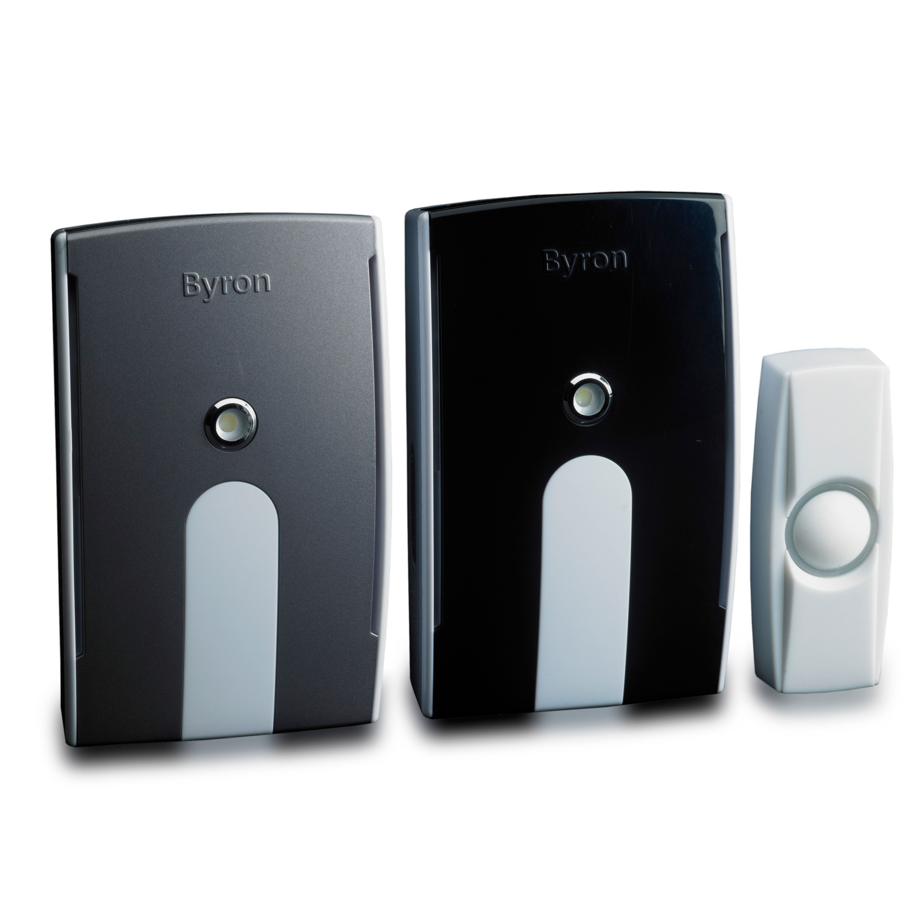 Byron Wireless White Portable Amp Plug In Door Chime