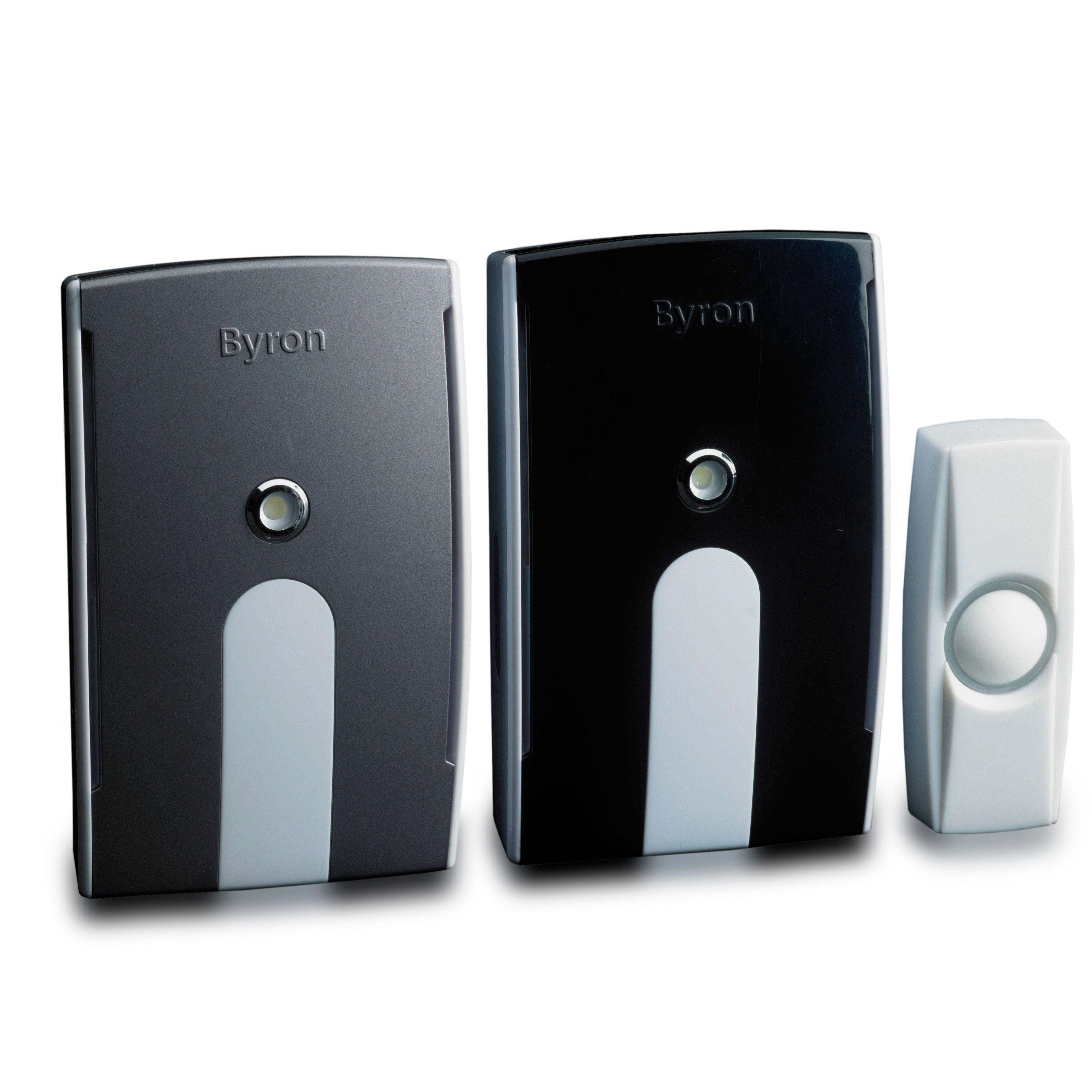 Byron Wirefree White Portable u0026 Plug-In Door Chime | Departments | DIY at Bu0026Q  sc 1 st  Bu0026Q & Byron Wirefree White Portable u0026 Plug-In Door Chime | Departments ... pezcame.com