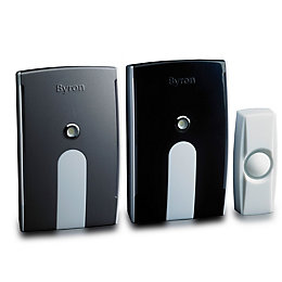 Byron Wirefree White Portable & Plug-In Door Chime