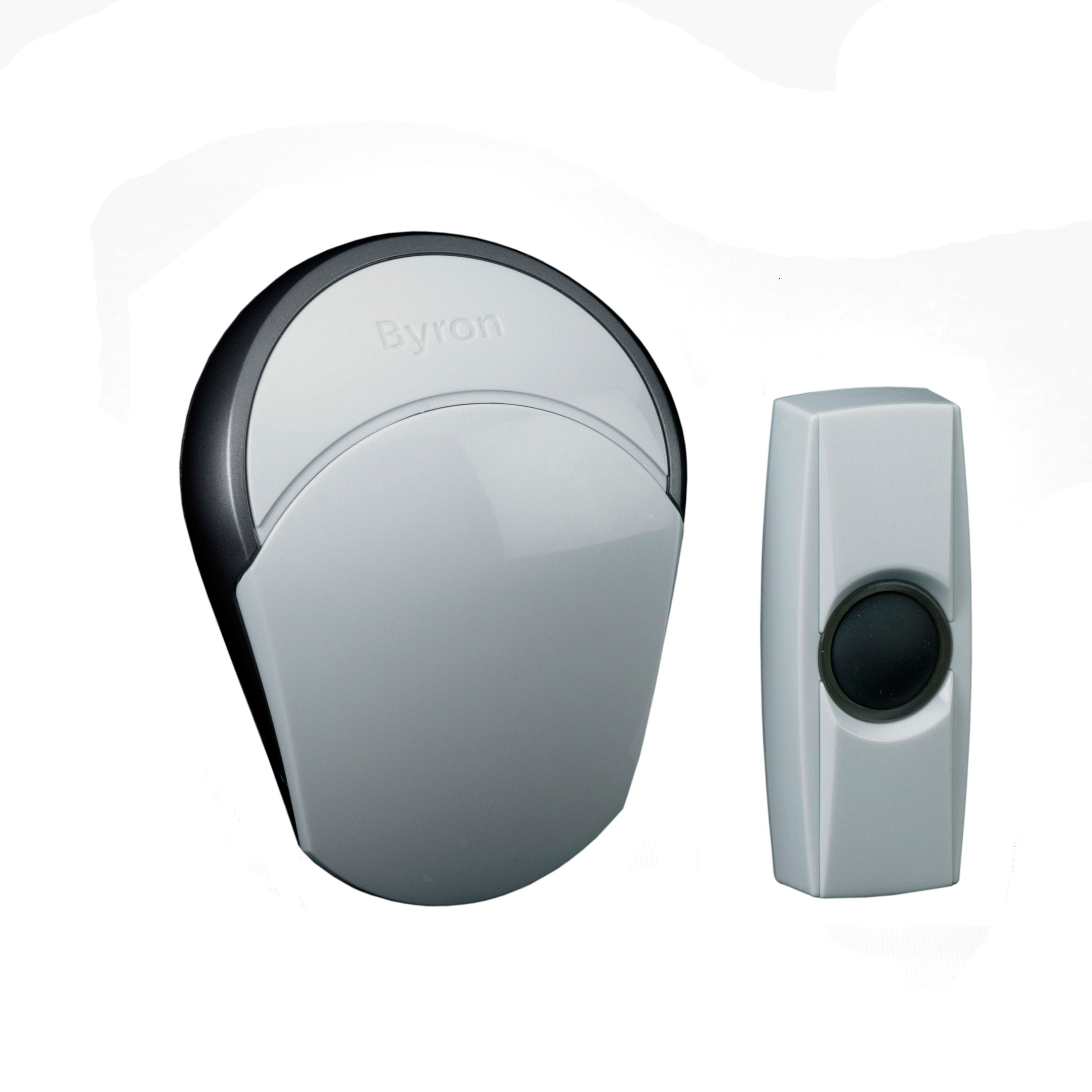 Byron Wirefree White Portable Door Chime  sc 1 st  Bu0026Q & Byron Extra Loud Wireless Portable Door Chime | Departments | DIY ... pezcame.com