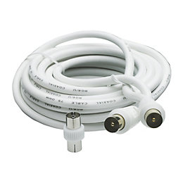 Smartwares Aerial Fly Lead White 5m