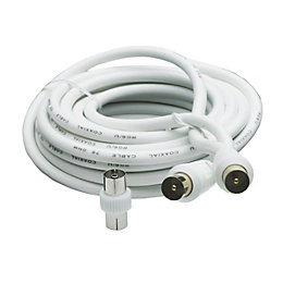 Smartwares Aerial Fly Lead White 10m