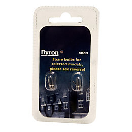 Byron Incandescent Capsule Light Bulb, Pack of 2