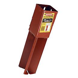 Metpost Steel Post Support (L)75mm (W)75mm (D)75mm