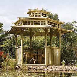 Rowlinson Oriental Wooden Pagoda - Assembly Required