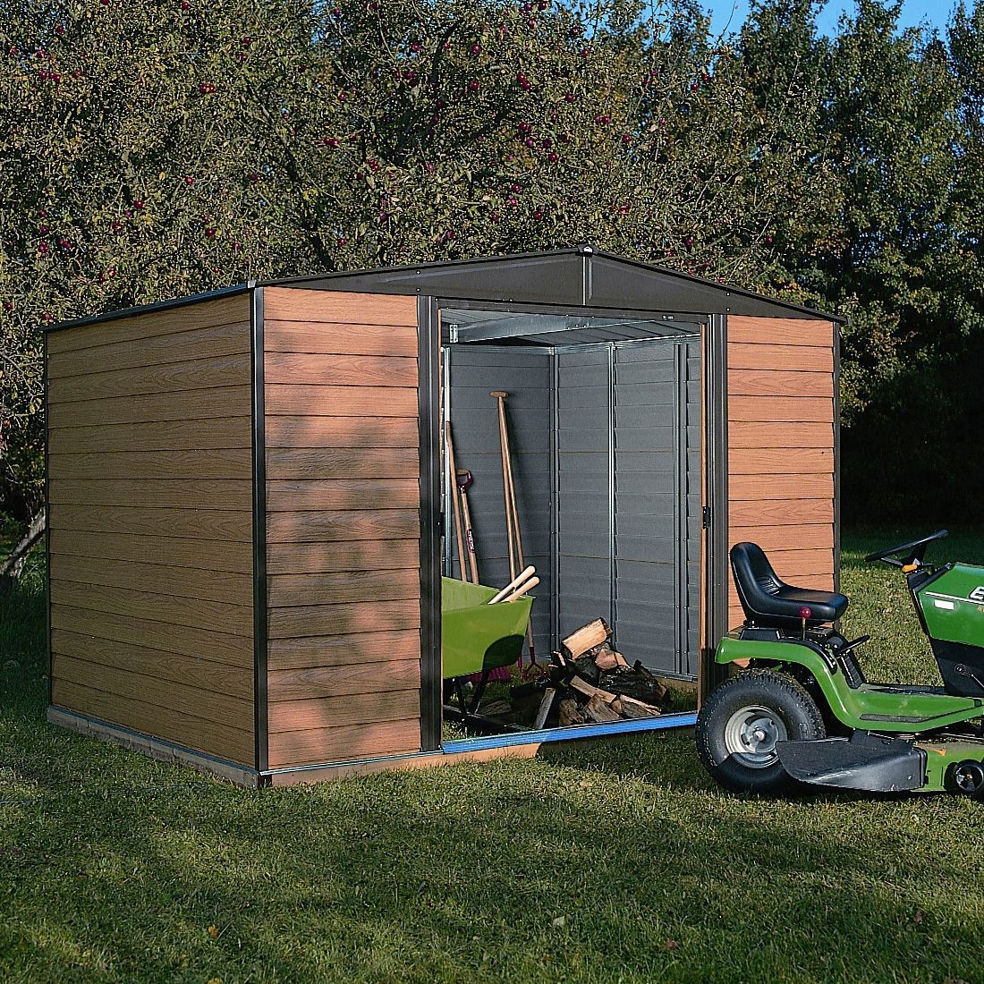 10X6 Woodvale Apex Metal Shed | Departments | DIY at B&Q
