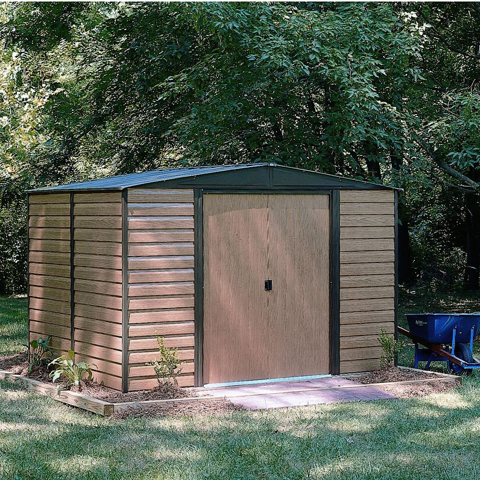10x8 Woodvale Apex Metal Shed Departments Tradepoint