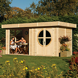 8X17 Connor Shiplap Timber Summerhouse & Base Included