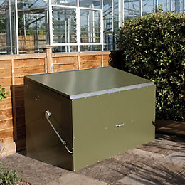 Pent Metal Garden Storage Box 6X3