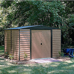 12X10 Woodvale Apex Metal Shed with Assembly Service