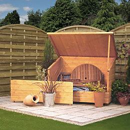 Shiplap Pent Wooden Garden Storage Box 4X3