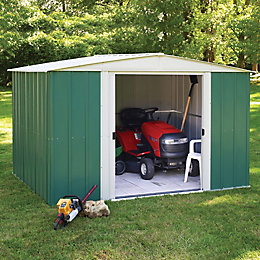 10X8 Greenvale Apex Metal Shed