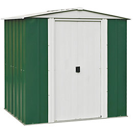 6X5 Greenvale Apex Metal Shed & Base Included