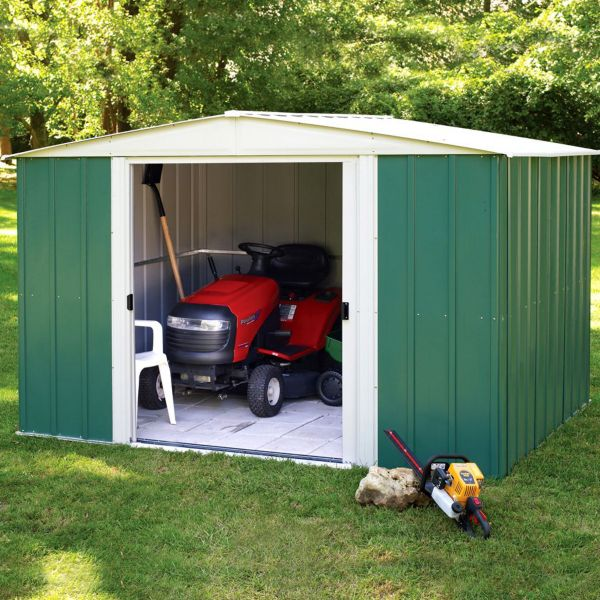 how to build a base for a metal shed