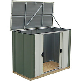 4X2 Greenvale Pent Metal Shed with Assembly Service