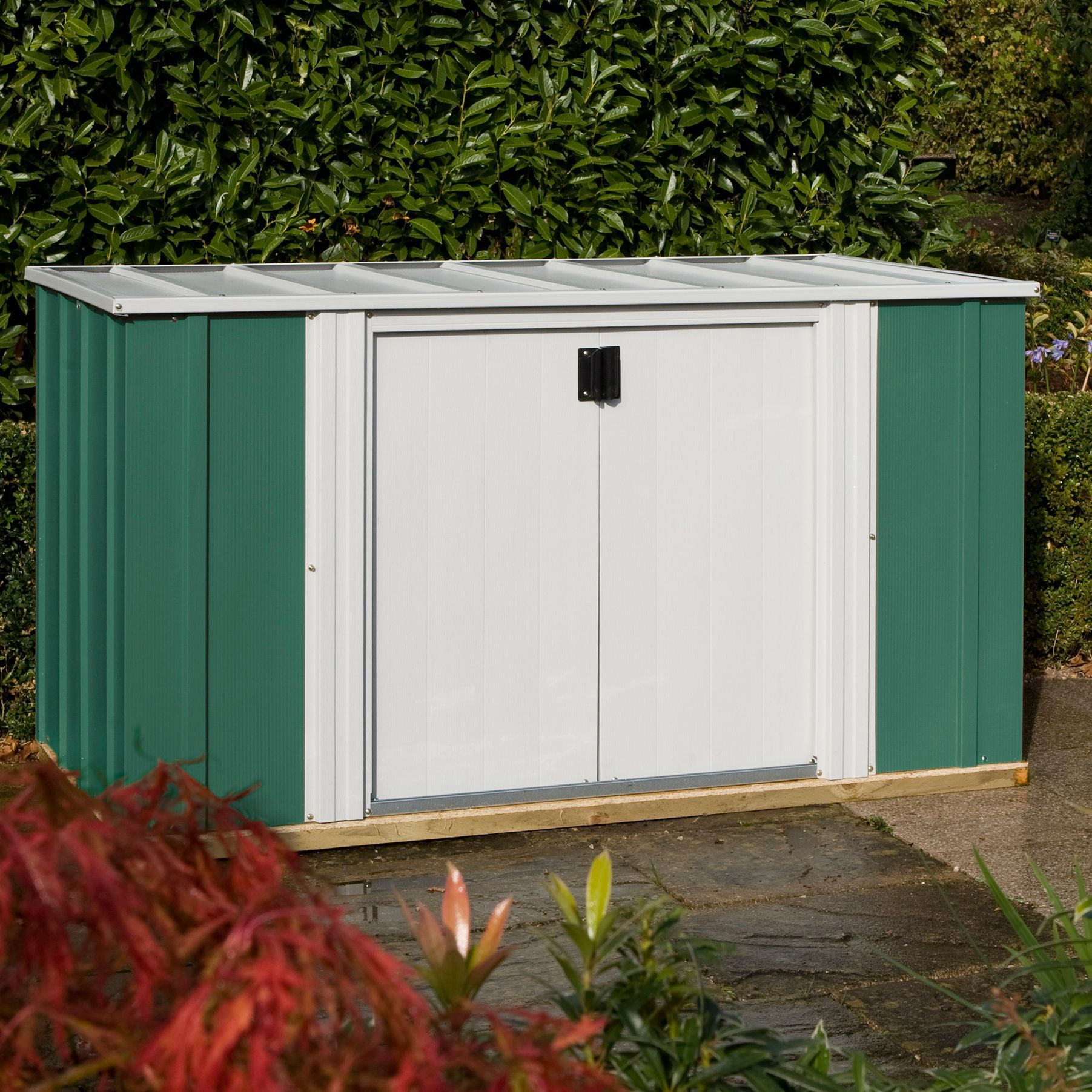 6x3 greenvale pent metal shed with assembly service for Garden shed 6x3