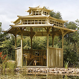 Rowlinson Oriental Wooden Pagoda - with Assembly Service